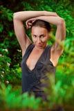 Beautiful woman in garden Royalty Free Stock Photos