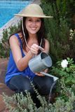 Beautiful Woman Gardener Stock Image
