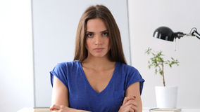Beautiful Woman Gesturing Frustration and Anger Stock Images
