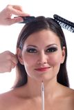 Beautiful woman getting a makeover Royalty Free Stock Photo