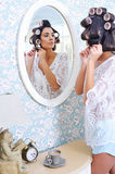 Beautiful woman getting ready in the morning Stock Photography