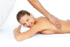 Beautiful woman getting a spa treatment Stock Image