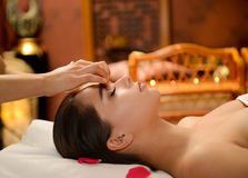 Beautiful woman getting spa treatment Royalty Free Stock Image