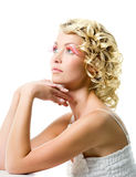 Beautiful woman with glamour makeup Royalty Free Stock Image