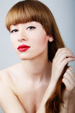 Beautiful woman glamour portrait Royalty Free Stock Photography