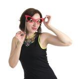 Beautiful woman with glass Stock Photo