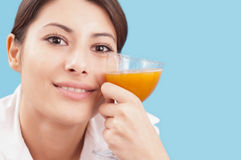 Beautiful woman with a glass of juice Stock Photos