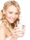 Beautiful woman with glass of water Royalty Free Stock Image