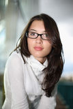 Beautiful woman in glasses Stock Images