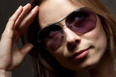 Beautiful woman in glasses Royalty Free Stock Photography