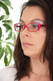 Beautiful woman with glasses Royalty Free Stock Photo