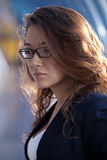 Beautiful woman in glasses Royalty Free Stock Photos