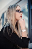 Beautiful woman in glasses Stock Photography