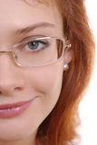 Beautiful woman in glasses Royalty Free Stock Image
