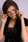 Beautiful Woman with Glasses Royalty Free Stock Photography