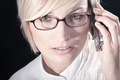 Beautiful woman with glasses close up Royalty Free Stock Photos