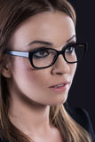 Beautiful woman with glasses portrait Royalty Free Stock Photography