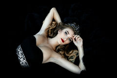 Beautiful woman in gorgeous dress Royalty Free Stock Photo