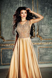 Beautiful woman in gorgeous dress Royalty Free Stock Image
