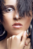 Beautiful woman with gothic fashion make up Stock Image