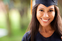 Beautiful woman graduating Stock Photography
