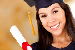 Beautiful woman graduating Royalty Free Stock Photos