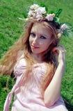 Beautiful woman on grass Royalty Free Stock Photos