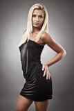 Beautiful woman on gray Royalty Free Stock Photo