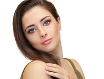Beautiful woman with green eyes Stock Photos