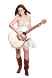 Beautiful woman with guitar Royalty Free Stock Photos