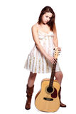 Beautiful woman with guitar Stock Photos