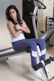 Beautiful woman in the gym Stock Photography
