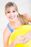 Beautiful woman at the gym Stock Photography