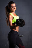 Beautiful woman at the gym Royalty Free Stock Photos