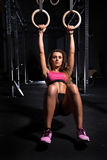Beautiful woman at the gym Royalty Free Stock Image