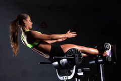 Beautiful woman at the gym Royalty Free Stock Photo