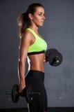 Beautiful woman at the gym Stock Photos