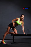 Beautiful woman at the gym Stock Photo