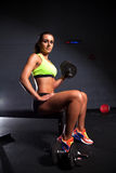 Beautiful woman at the gym Stock Photos