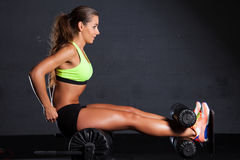 Beautiful woman at the gym Stock Image
