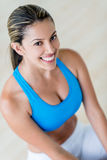 Beautiful woman at the gym Royalty Free Stock Images