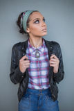 Beautiful woman with hairband posing Stock Photography