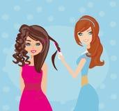 Beautiful woman in hairdressing salon Stock Photos