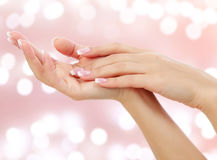 Beautiful woman hands Royalty Free Stock Images