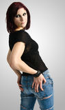 Beautiful woman with hands on hips Royalty Free Stock Images