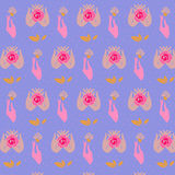Beautiful woman hands holding roses. Seamless pattern. Vector. Illustration eps 10 royalty free illustration