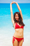 Beautiful woman, happy summer day Stock Photo