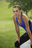 Beautiful Woman after a hard workout Royalty Free Stock Photos