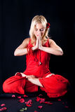 Beautiful Woman Has Meditation Royalty Free Stock Image