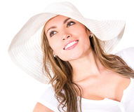 Beautiful woman with a hat Stock Photo